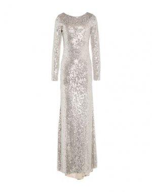 Длинное платье ANIYE BY. Цвет: серебристый