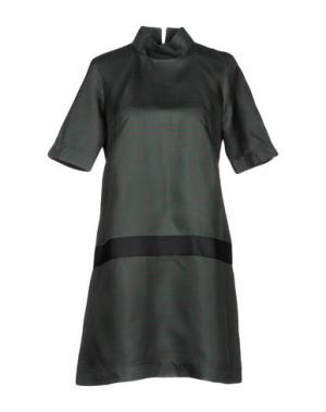 Короткое платье BINI Como. Цвет: темно-зеленый