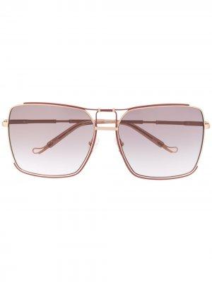 Солнцезащитные очки Peony из коллаборации с Linda Farrow Matthew Williamson. Цвет: розовый