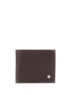 Бумажник из зернистой кожи Orciani. Цвет: коричневый