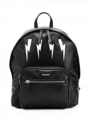 Рюкзак с принтом Bolt Neil Barrett Kids. Цвет: черный