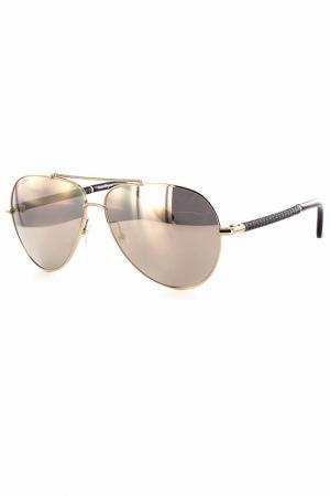 Очки солнцезащитные Salvatore Ferragamo. Цвет: золотой