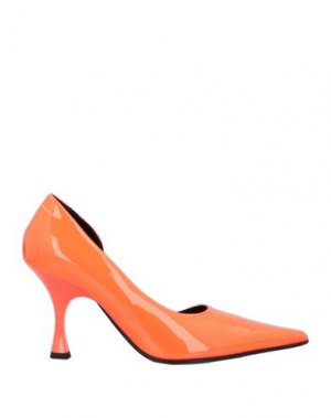 Туфли MM6 MAISON MARGIELA. Цвет: оранжевый