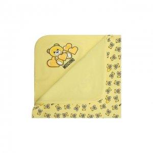 Хлопковое одеяло Moschino. Цвет: жёлтый