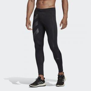 Удлиненные тайтсы для бега Saturday Performance adidas. Цвет: черный