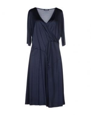 Платье до колена BASILE. Цвет: темно-синий