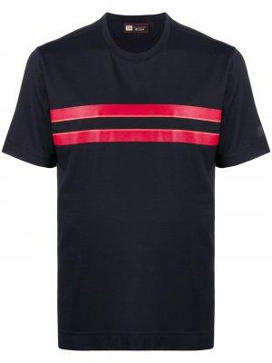 Полосатая футболка с короткими рукавами Ermenegildo Zegna. Цвет: синий