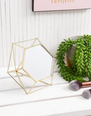 Золотистое зеркальце геометрической формы Chickidee. Цвет: золотой