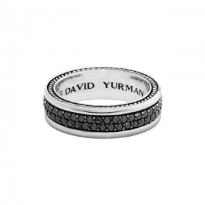 Кольцо David Yurman. Цвет: серебряный