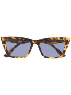Солнцезащитные очки Talin черепаховой расцветки Gentle Monster. Цвет: коричневый
