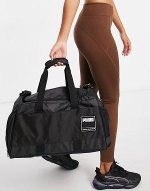 Черная спортивная сумка-дафл среднего размера PUMA-Черный цвет Puma