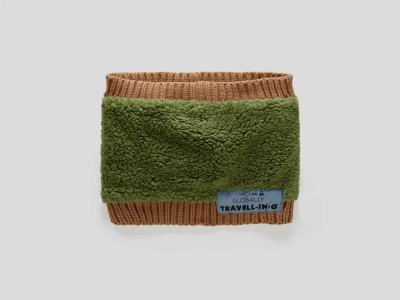 Шарф Benetton. Цвет: зеленый