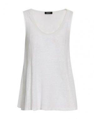 Майка DKNY. Цвет: белый