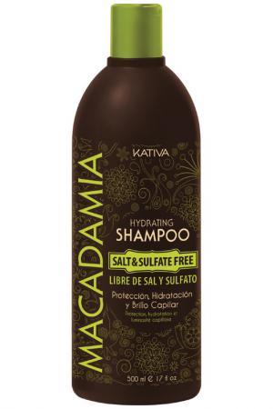 Интенсивно увлажняющий шампунь Kativa. Цвет: коричневый