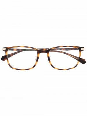 Очки трапециевидной формы Polaroid. Цвет: коричневый