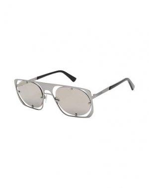 Солнечные очки DIESEL. Цвет: серебристый