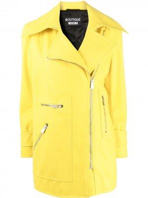 Короткий плащ с длинными рукавами Boutique Moschino. Цвет: желтый