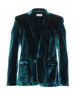 Пиджак SAINT LAURENT. Цвет: цвет морской волны