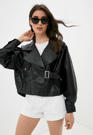 Куртка кожаная Missguided. Цвет: черный