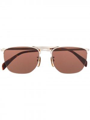 Солнцезащитные очки DB 1001/S в полуободковой оправе Eyewear by David Beckham. Цвет: серебристый