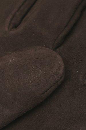 Серые перчатки с замшей Lardini. Цвет: серый