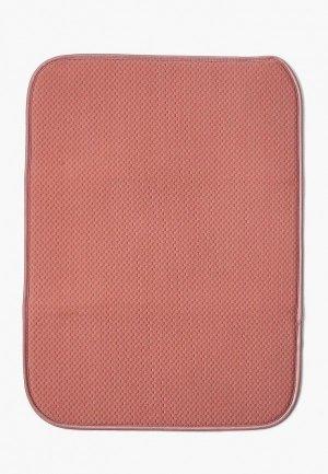 Салфетка сервировочная DeNastia Коврик для сушки посуды DeНАСТИЯ, 38*51 см. Цвет: розовый