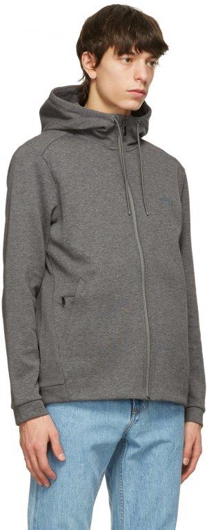 Grey Saggy Zip Hoodie Boss. Цвет: 031 grey