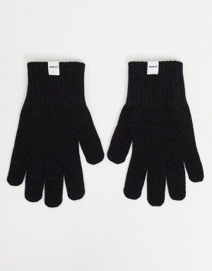Черные перчатки Carlton-Черный цвет Parlez