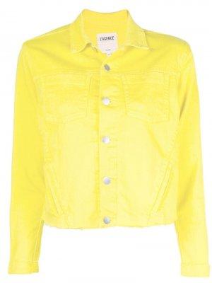 Джинсовая куртка L'agence. Цвет: желтый