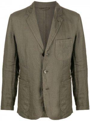 Однобортный пиджак Samuraki Aspesi. Цвет: зеленый