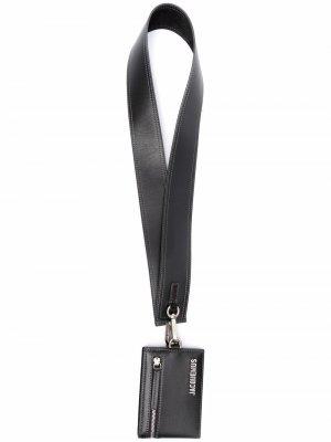 Кошелек со шнурком на шею и логотипом Jacquemus. Цвет: черный