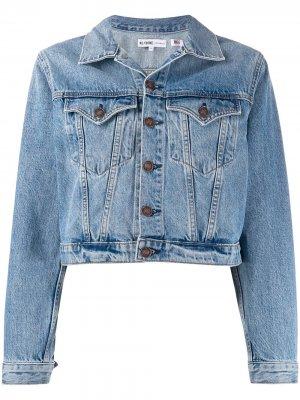 Укороченная джинсовая куртка RE/DONE. Цвет: синий