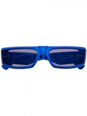 Солнцезащитные очки в прямоугольной оправе Retrosuperfuture. Цвет: синий