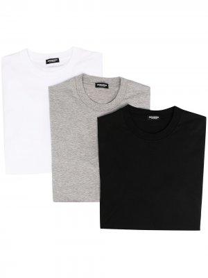 Комплект из трех футболок с круглым вырезом Dsquared2. Цвет: белый