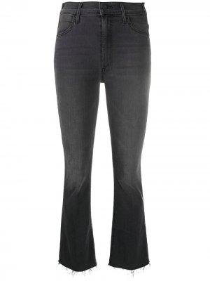 Hustler high-rise cropped jeans Mother. Цвет: серый