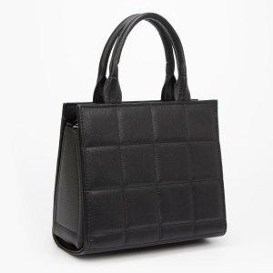 Тоут, отдел на молнии, наружный карман, длинный ремень, цвет чёрный TEXTURA