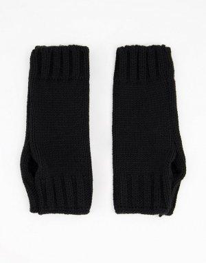 Черные митенки -Черный цвет ASOS DESIGN