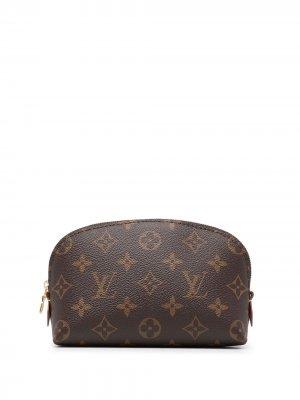 Клатч на молнии 2008-го года с монограммой Louis Vuitton. Цвет: коричневый