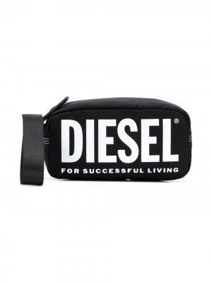 Сумка с логотипом Diesel Kids. Цвет: черный