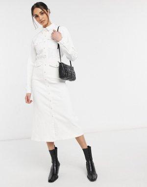 Белоснежная длинная юбка Astrid-Белый Gestuz