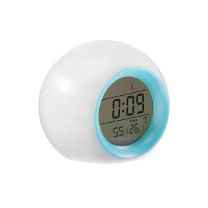 Будильник luazon lb-11, температура, подсветка, звуки природы, голубой Home