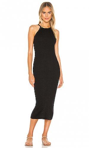 Платье миди Autumn Cashmere. Цвет: черный