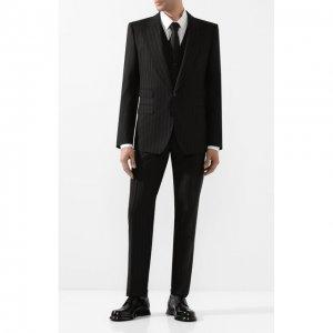 Шерстяной костюм-тройка Dolce & Gabbana. Цвет: чёрный