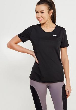 Футболка спортивная Nike Womens Pro Top. Цвет: черный