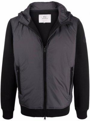 Легкая куртка на молнии с капюшоном Woolrich. Цвет: черный