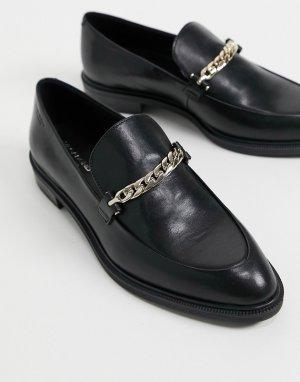 Черные лоферы с цепочкой Frances-Черный цвет Vagabond