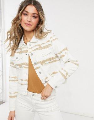 Белая джинсовая куртка с принтом Stacey-Белый Object