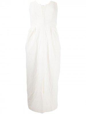 Структурированное платье без бретелей Mara Hoffman. Цвет: белый