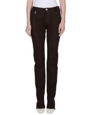 Повседневные брюки LEROCK. Цвет: темно-коричневый