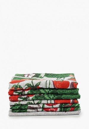 Набор полотенец кухонных Эго 7 шт., 45х60 см.. Цвет: разноцветный